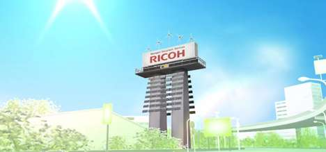 Solar-Powered Billboards - Ricoh Launches Europe's First Renewable Energy Advertisement