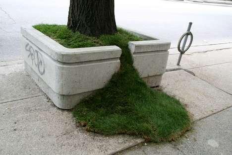 Cracked Planter Art