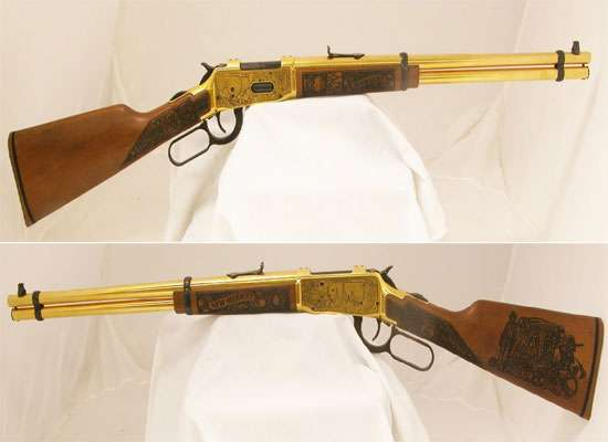 High-Class Charity Guns : Gold-Plated New Mexico Centennial Rifle