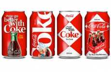 Vintage Poster Pop Packaging - The Peter Gregson Coca-Cola Cans Celebrate Coke's 125 Anniversary
