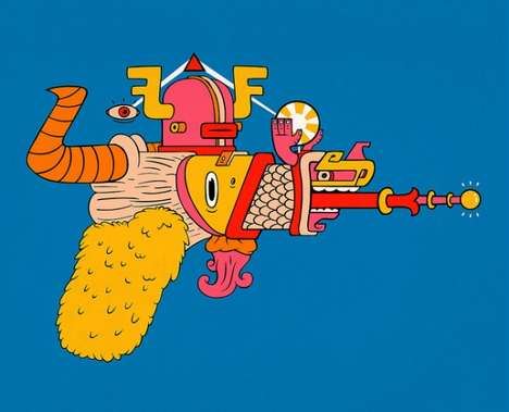 Futuristic Firearm Art