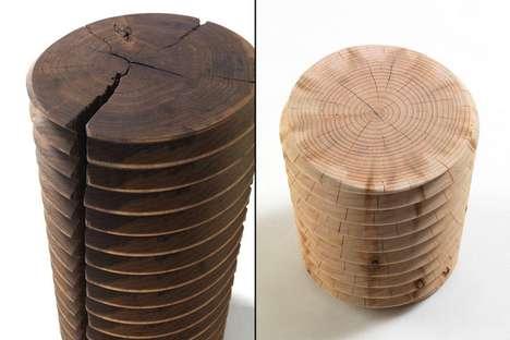 Wooden Screwlike Seats