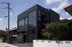 Black-Out Bachelor Pads - The 'Black Slit' House Adds Luxury to Industrial Japanese Living