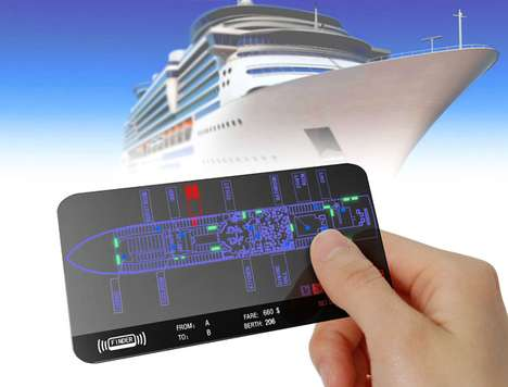 Futuristic Cruise Ship Cards