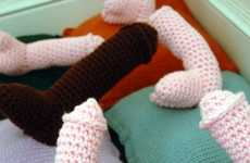 Crocheted Phallic Pillows - The KnittingKneedle Etsy Store is a Naughty Alternative to Home Decor