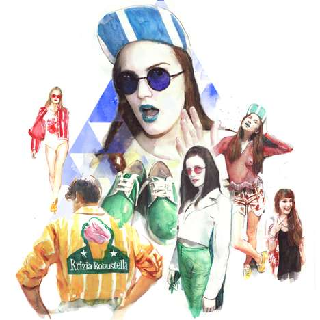 Hipster-Couture Collages