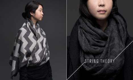 Math-Inspired Scarves - String Theory Designs Accessories for Geometric Geniuses