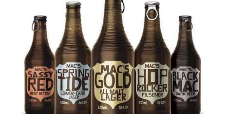 The New Packaging Design for Mac's Brewery Beer Selections is Seriously Groovy