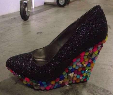 Trippy Gem-Filled Shoes