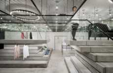 Faux Ceiling Boutiques - The Duras Daiba Interior by Sinato Plays a Trick on the Eyes