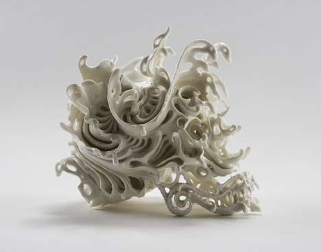 Intricate Porcelain Craniums