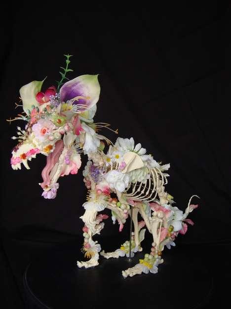 Floral Skeletal Sculptures