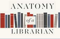 Brainy Bookworm Infographics - 'Anatomy of a Librarian' Explores the Life of a Bibliognost