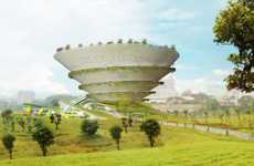 Coiling Cone Architecture - The Spiral Garden Museum is a Cultural Creation Fit for Kids