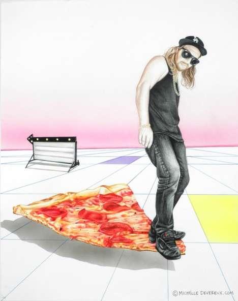 Mixed Media Hipster Art
