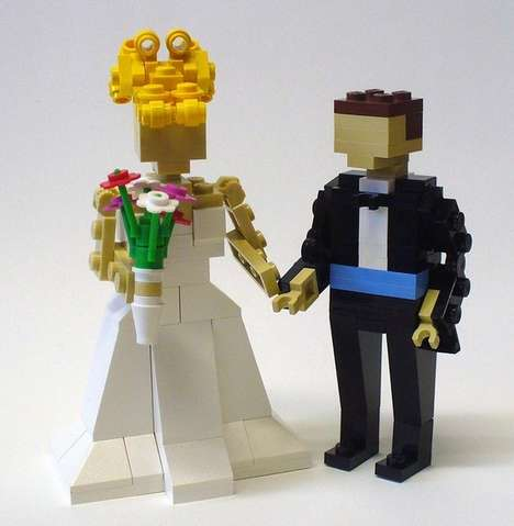 The LEGO Wedding Cake Toppers are Geek Chic