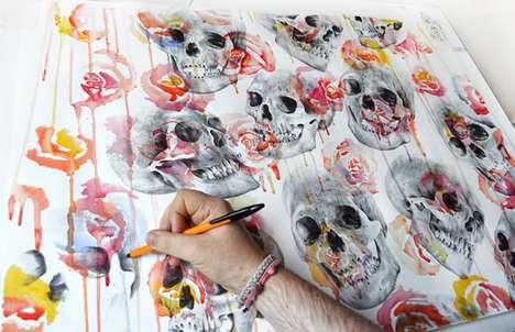 Streaky Paint Skullustrations
