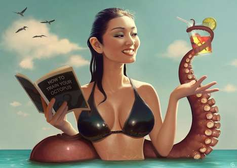 Exaggerated Celebrity Pin-Ups (UPDATE)