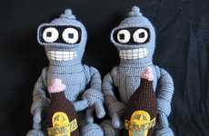 Crochet Beer-Chugging Robots - Baby Bender Shows the Cuter Side of the Foul-Mouthed Droid