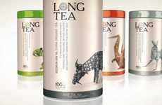 Intricate Origami Packaging - This Long Tea Branding Offers an Example of Storytelling Marketing