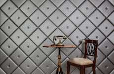 Luxe Leather Walls - NappaTile Creates Plush Wallpaper That Exudes Opulence
