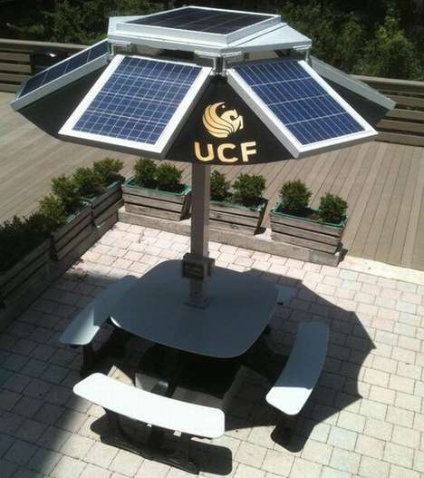 Solar-Powered School Benches