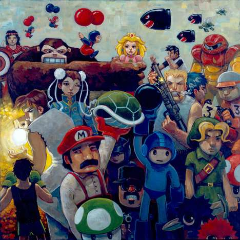 Playful Pop Culture Paintings