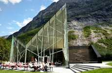 Cliff-Created Eateries - The Trollwall Restaurant Echos the Mountains That Surrond It