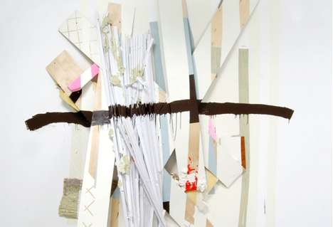 Household Mixed Media - Katie Bell Uses Unusual Domestic Materials Within Her Paintings