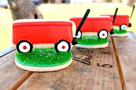 Sugary Stroller Sweets - These Little Red Wagon Cookies Make for Adorable Back to School Bites