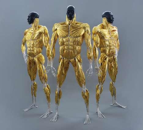 Solar Superhero Sculptures
