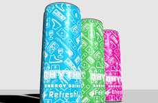 Abuzz Beverage Branding - Rhythm Energy Drink Packaging Keeps the Party Going