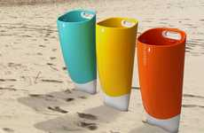 Implantable Garbage Cans - The Dustbin 4 Beach is Ideal for Crowded Sandy Landscapes
