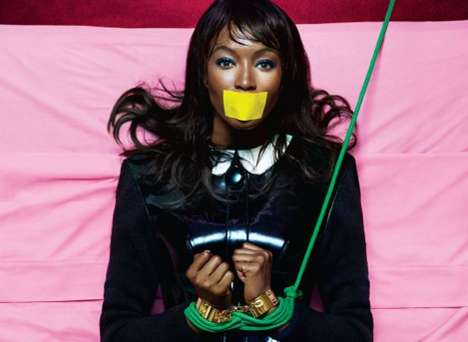 Restraining Boudoir Shoots - This Naomi Campbell V Spain Fall Editorial is Roped in