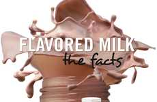 Clever Chocolate Milk Charts - The Flavored Milk: The Facts Infographic Dissects Delicious Dairy