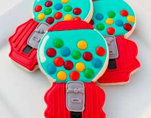 Retro Bubblegum Bites - Sweet Sugar Belle's Gumball Machine Cookies are a Ball of Fun