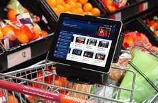 Trolley Tablet Stands - This Shopping Cart iPad Mount Brings Tech to the Produce Section