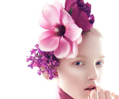 Ladylike Floral Editorials - This Maja Salamon Fashion Gone Rogue Photo Shoot Keeps it Classy