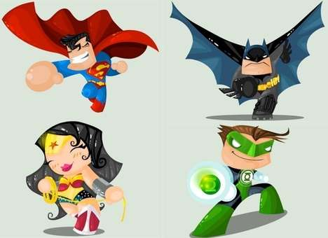 The Ivan Camelo Superhero Illustrations are Cute and Lovable