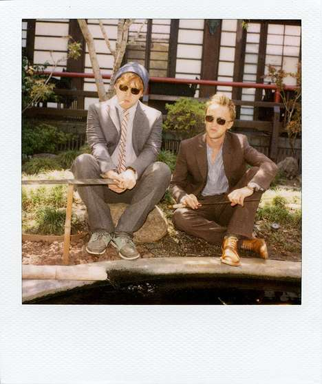 Wizardly Bromance Shoots - Harry Potter's Tom Felton and Rupert Grint Team up for Band of Outsiders