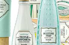 Apothecary Beauty Branding - Antique Bottles Inspire Packaging for Benefit Cosmetics b.right! Line