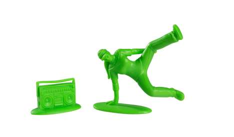 Neon Breakdancing Figurines