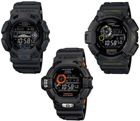 Smoky Grayscale Timepieces