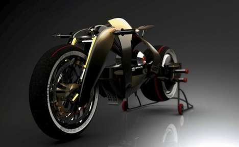 Retro Race-Ready Motorcycles