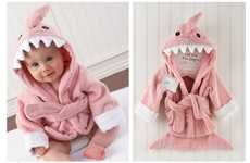 Cute Toothy Kimonos - This Shark Baby Bathrobe Turns the Sea Predator Soft