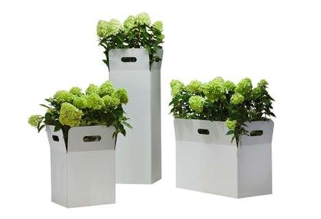 Cardboard Crate Planters
