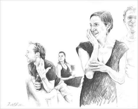 Sketched Dancer Depictions