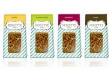 Candy Stripe Snack Packaging - Noisette Cafe Branding Channels a French Boulangerie