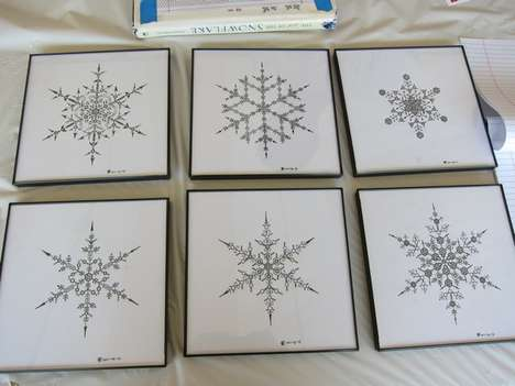 Geometric Snowflake Drawings