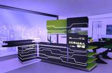 Tron Concept Kitchens - The i Food Kitchen Features a Touch-Screen Fridge and Stove